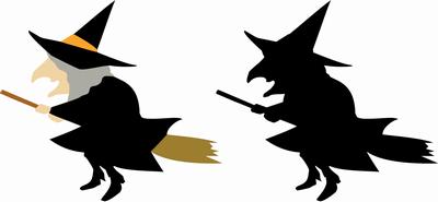 ハロウィンの魔女イラスト