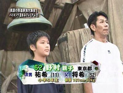 少年時代の野村祐希