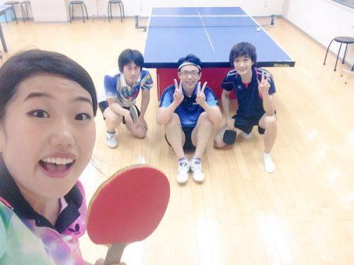 横澤夏子の特技は卓球