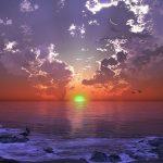 グリーンフラッシュの条件や場所は?小笠原諸島の画像や動画を紹介!