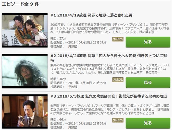モンテ・クリスト伯 動画無料視聴