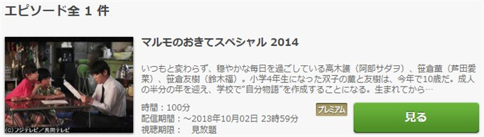 マルモのおきてスペシャル2014 ドラマ動画無料視聴