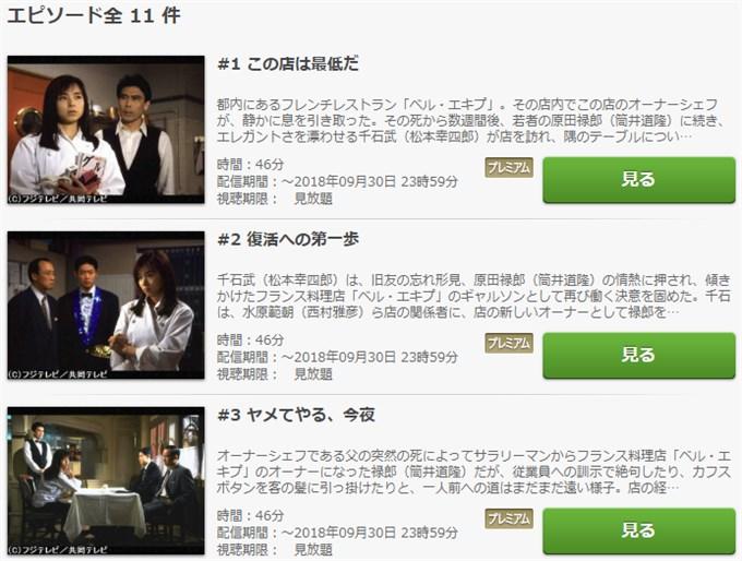 王様のレストラン ドラマ動画無料視聴