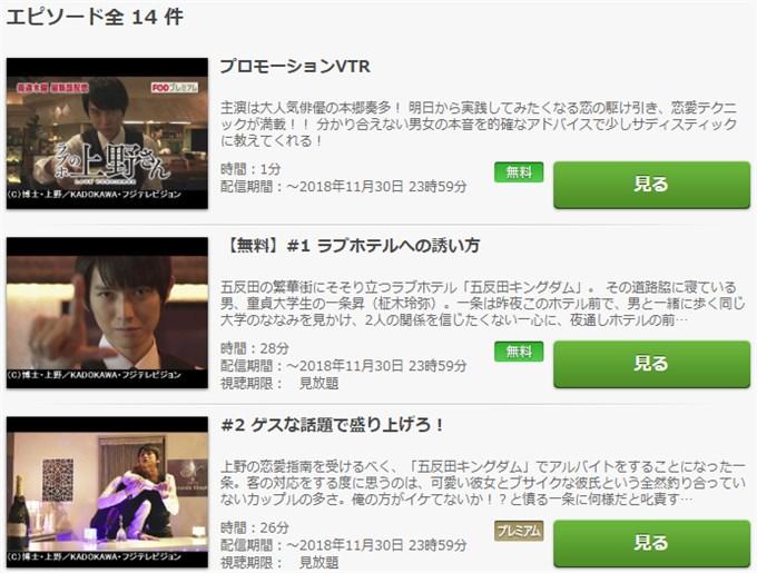 ラブホの上野さん ドラマ無料動画視聴