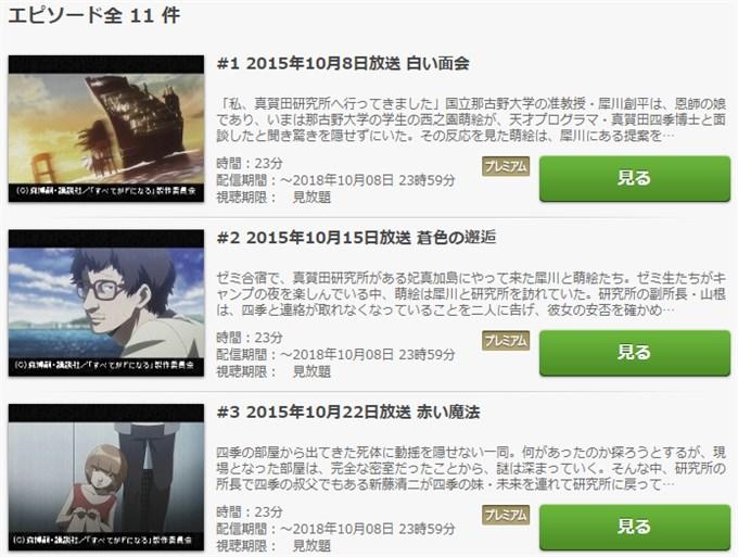 すべてがFになる アニメ無料動画視聴