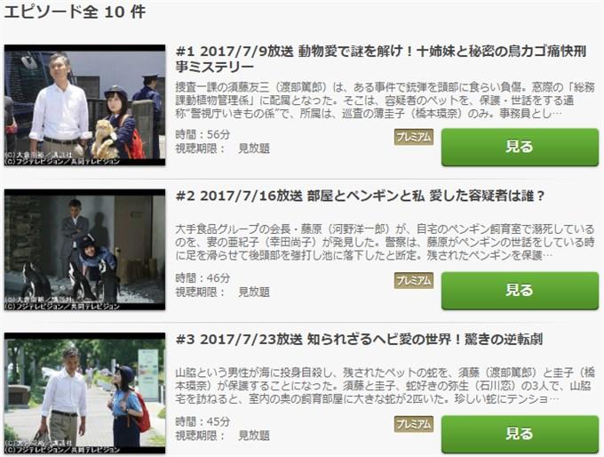 警視庁いきもの係 ドラマ動画無料
